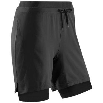 CEP kurze Sporthosen TRAINING 2IN1 SHORTS - W0H1B schwarz