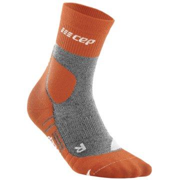 CEP Hohe SockenCE HIKING MERINO MID-CUT SOCKS - WP2C4 orange