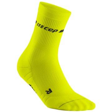 CEP Hohe Socken NEON MID-CUT SOCKS, NEON YELLOW - WP2CG gelb