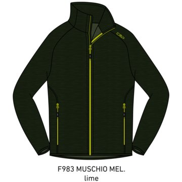 CMP SweatjackenMAN JACKET - 30E9707 grün