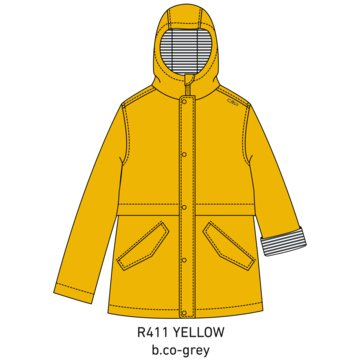 CMP RegenjackenKID RAIN FIX HOOD JACKET - 30X9734 gelb