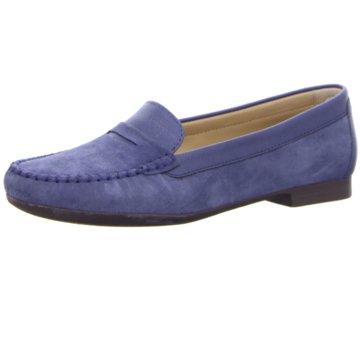 Ecco Mokassin Slipper blau