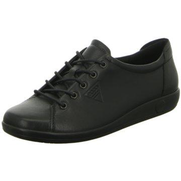 Ecco Komfort Schnürschuh schwarz