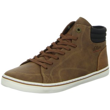 s.Oliver Sneaker High braun