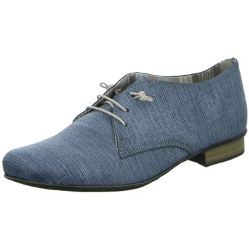 Rieker Klassischer Schnürschuh blau