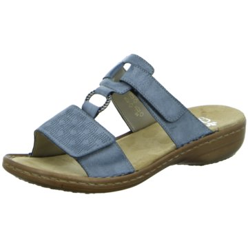 Rieker Komfort PantolettePantolette blau