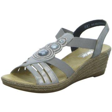Rieker Komfort Sandale silber