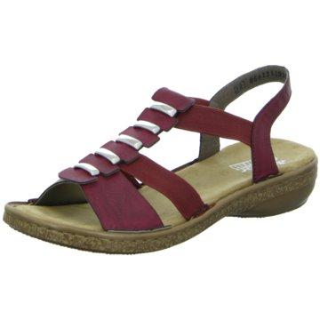Rieker Komfort Sandale rot