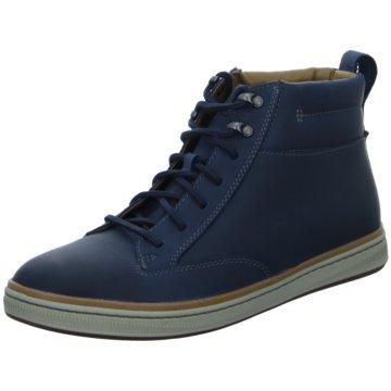 Clarks Sneaker HighAnkle-Bootie blau
