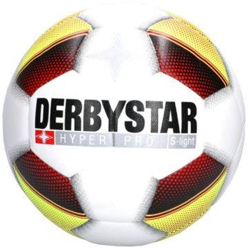 Derby Star FußbälleHyper Pro S-Light Fußball Trainingsball weiß gelb rot -
