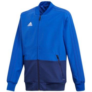 adidas TrainingsjackenCON18 PRE JKT Y - CF3709 blau