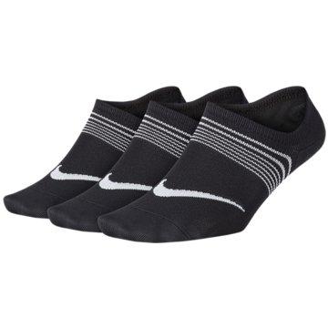 Nike Hohe SockenPerformance Lightweight Footie 3PPK Women schwarz