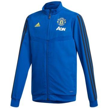 adidas TrainingsjackenMUFC PRE JKTY - DX9041 blau