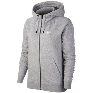 Nike SweatjackenNike Sportswear Essential Women's Full-Zip Fleece Hoodie - BV4122-063 grau