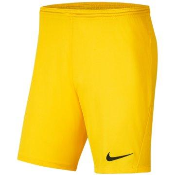 Nike FußballshortsDRI-FIT PARK 3 - BV6865-719 gelb