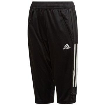 adidas 3/4 Sporthosen schwarz
