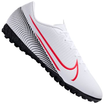 Nike Multinocken-SohleNike Mercurial Vapor 13 Academy TF Turf Soccer Shoe - AT7996-160 weiß