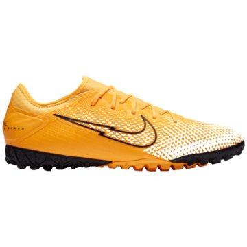 Nike Multinocken-SohleNike Mercurial Vapor 13 Pro TF Artificial-Turf Soccer Shoe - AT8004-801 orange