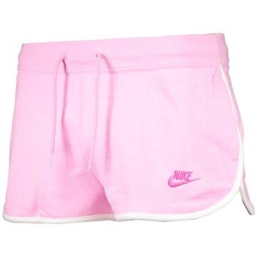Nike kurze SporthosenNike Sportswear Heritage Women's Fleece Shorts - AR2414-629 rosa
