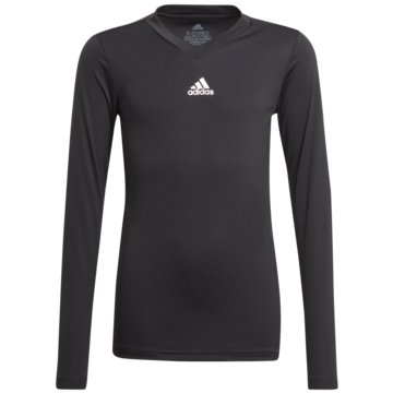 adidas FußballtrikotsTEAM BASE LONGSLEEVE - GN5710 schwarz