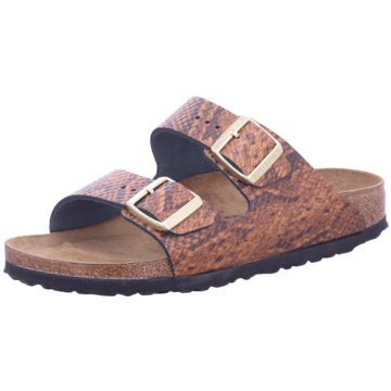 Birkenstock Klassische PantoletteArizona NL Snake Brown animal