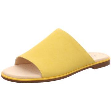 Clarks Klassische Pantolette gelb