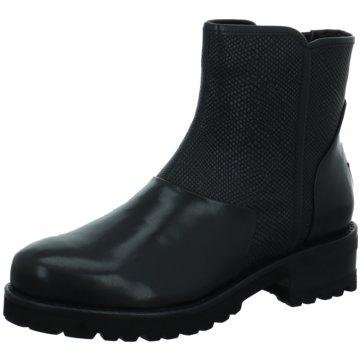 TRIVER FLIGHT Leder Stiefel flach, schwarz