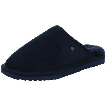 Warmbat Hausschuh blau