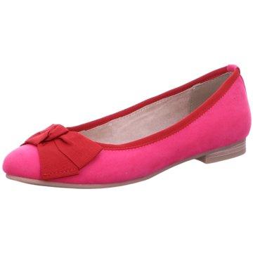 Marco Tozzi Klassischer Ballerina pink