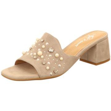 Alpe Woman Shoes Klassische Pantolette beige