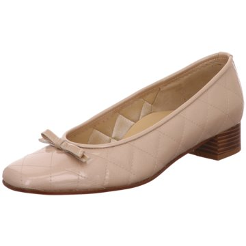 Brunate Flacher Pumps beige