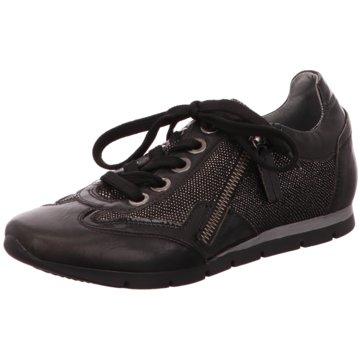 XSA Komfort Schnürschuh schwarz