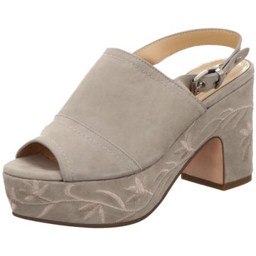 The Seller Plateau Sandalette grau
