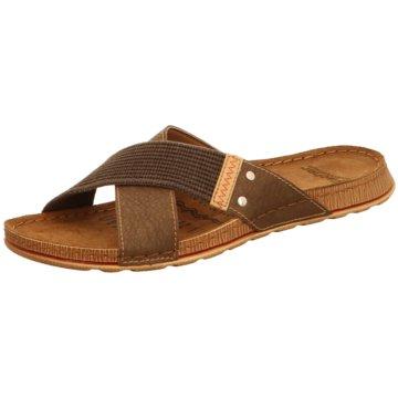 Fischer Schuhe Pantolette braun
