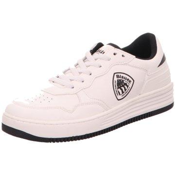 Blauer USA Sneaker Low weiß