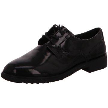 Clarks Eleganter Schnürschuh schwarz