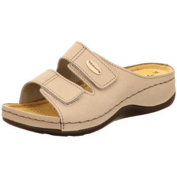 Tamaris Komfort Pantolette beige