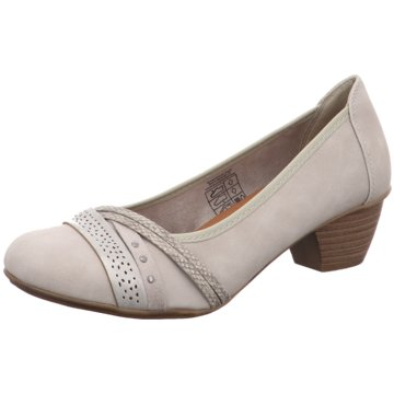 Idana Flacher Pumps grau