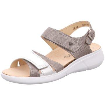London Steps Damen Sandalen, Silber - Metallic Silver/Black - Größe: 39