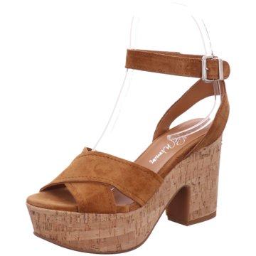 Alpe Woman Shoes Plateau Sandalette braun