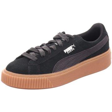 Puma Sneaker LowBasket Platform Anim schwarz