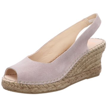 a4001a4324228e Fred de la Bretoniere Espadrilles SandalenEspandrille heel rosa