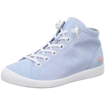 Softinos Komfort Schnürschuh blau