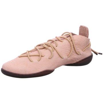 Trippen Komfort Schnürschuh rosa