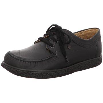 Jacoform Komfort Schnürschuh schwarz