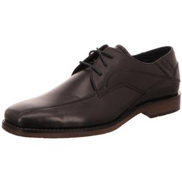 Bugatti Klassischer Schnürschuh schwarz