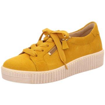 Gabor Sportlicher Schnürschuh gelb