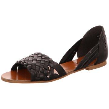 van der Laan Sandale schwarz