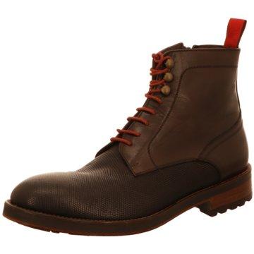 Prime Shoes Schnürstiefelette braun