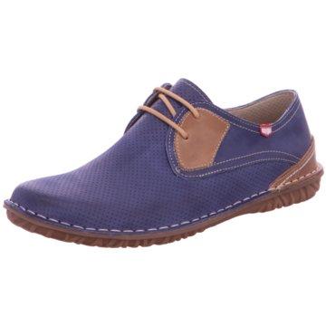 On Foot Mokassin Schnürschuh blau